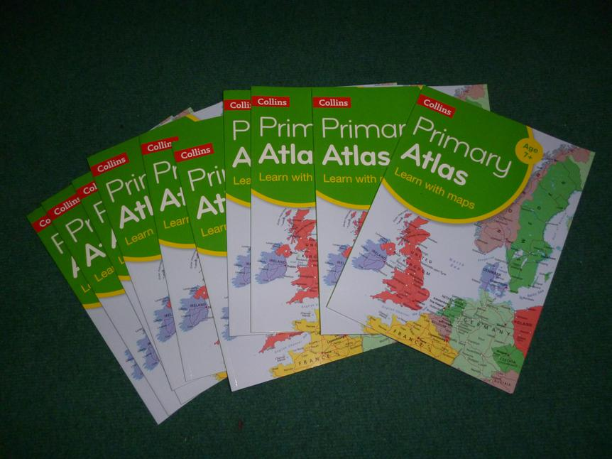 We bought atlases to support learning in Geography