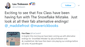 The author of 'Snowflake Mistake' Tweeted us...