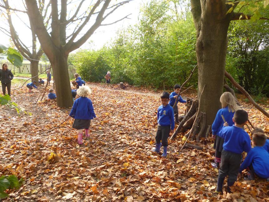 ...but we had a great time learning outdoors!