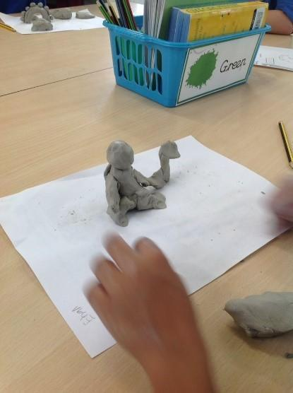 Year 2 Sculpture in clay