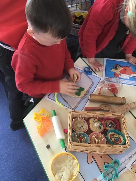Creating gingerbread men