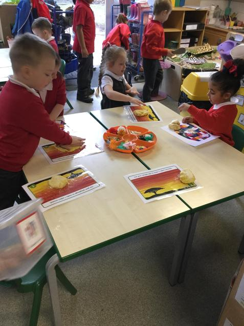 We are creating African animals