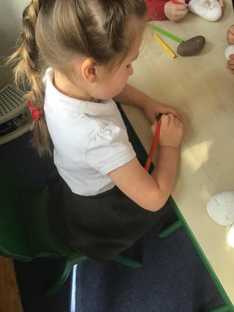 We are creative making story stones