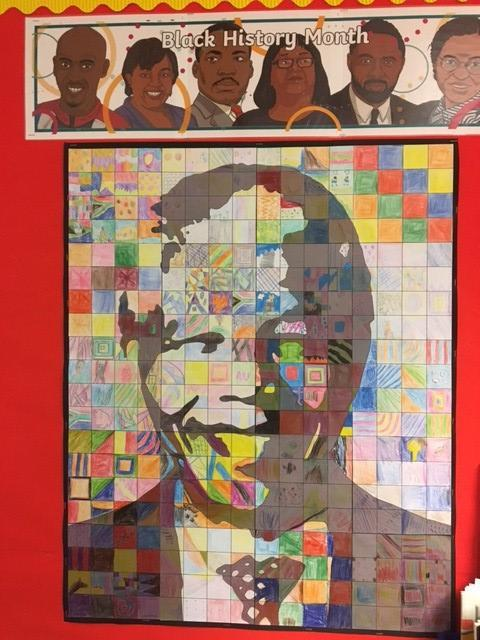 Nelson Mandela artwork.