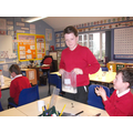 Working with someone in year 3 was fun.