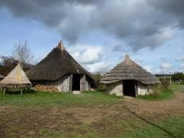 Some of the fascinating roundhouses we will visit at Butser Ancient Farm.