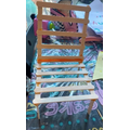 Chair made from lolly sticks