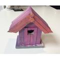 A hand-painted bird box