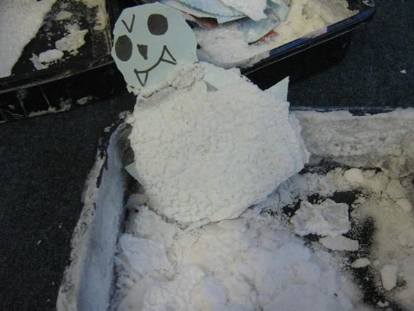 Making salty snowmen