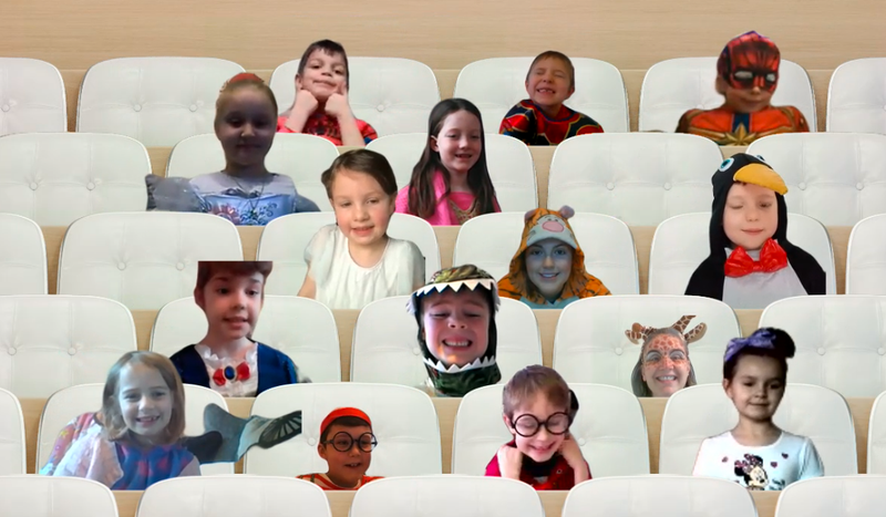 There was lots of laughter during our virtual class assembly today!