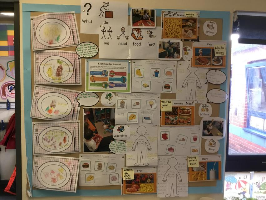 We are learning about what do we need food for?