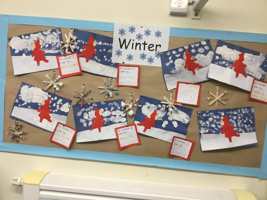 We are learning about Seasons - this is our Winter