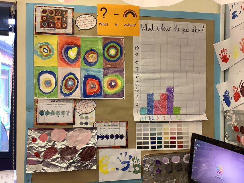 We have been learning all about artists and colour