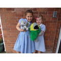 Lily and Lily with Ella Elephant and Percy Parrot!