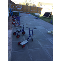 Scooters ready to develop our gross motor skills!