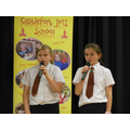Year 6 - Kirsty and Katie: Singing