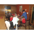 A visit to Oakwood court to share Valentine crafts