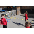 Egg and spoon race with Sharon