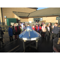 A spaceship landed in our outdoor area!