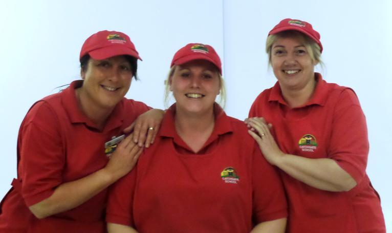 Jill, Tracy and Julie - Kitchen Staff