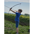 Sid working on his archery