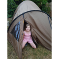 Camping in the sunshine for Bea!