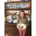 Martha's yummy greek salad!