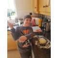 Ryan baking some cheese straws, mmm!
