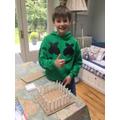 Jamie begins building The Parthenon