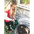 Gladys gardening