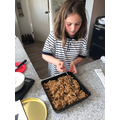 Maya busy baking