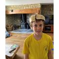 Freddie and his brain hat!