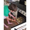 Jamie baking space cookies
