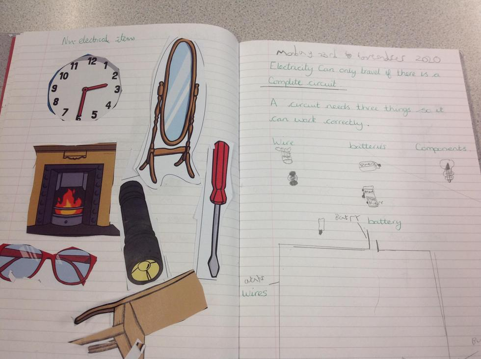 Some great work showing some non-electrical items and a drawn circuit.