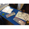 Some children made angles as well as shapes.