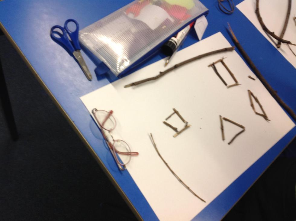Yuchi had fun making shapes with right angles.