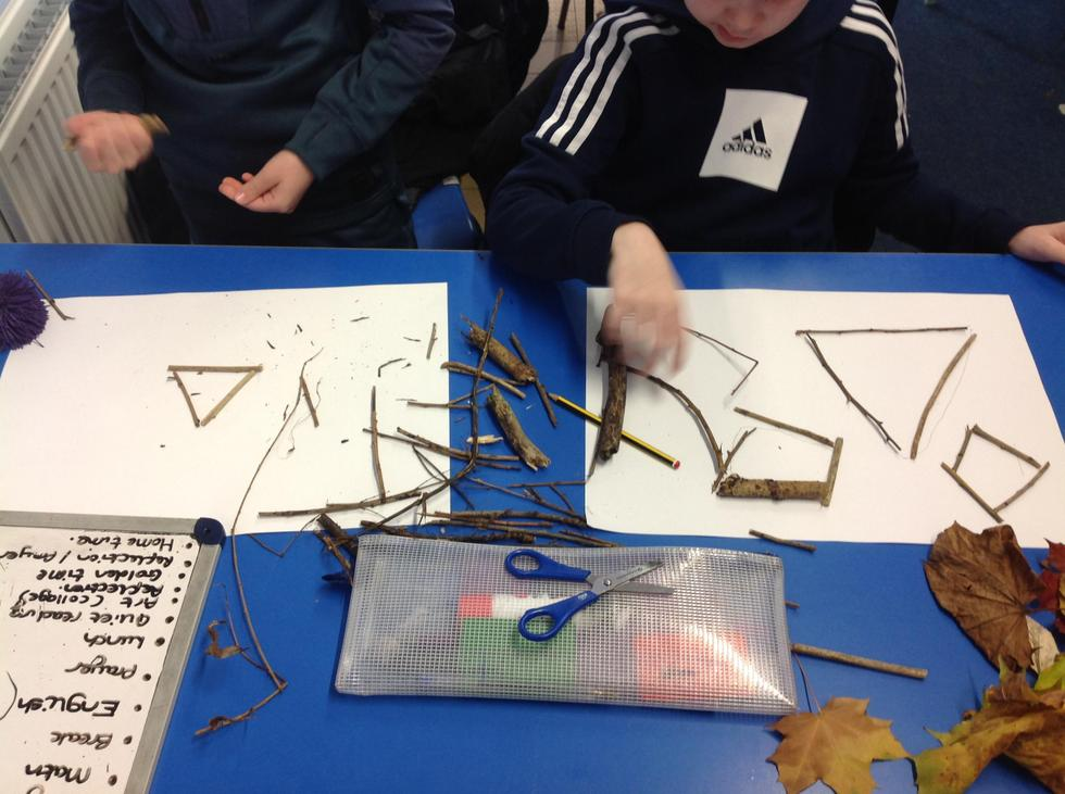 Bobby and Lucas have made a variety of polygons.