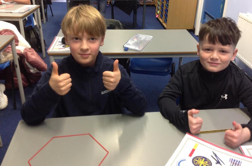 Thumbs up if you successfully made a hexagon out of straws!