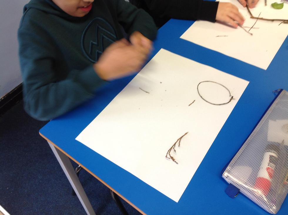 """""""It has one curved side, it's a circle!"""" says Azaan."""
