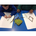 Experimenting with rhombuses.