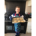 Ethan's white chocolate cookies!