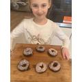 Sophia's chocolate doughnuts!