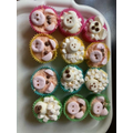 Sennen and Victoria's pig and sheep cakes!