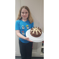 Nicola's chocolate and salted caramel cake!