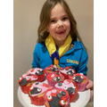 Valentine cakes from Emily - superstar!