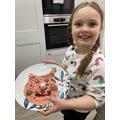 Pink piggy pancakes from Elizabeth!