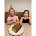 Prudence and Rowenna's lemon drizzle cake!