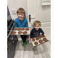 Double chocolate chip cookies by Archie and Alex!