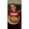 Nicola's Bakewell tart looks delicious!