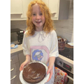 Hope's chocolate cake!